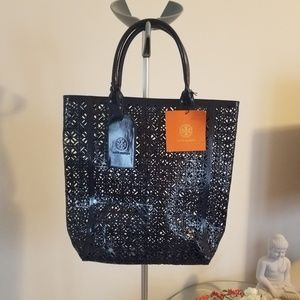 NWT Tory Burch performed Navy Beach tote.